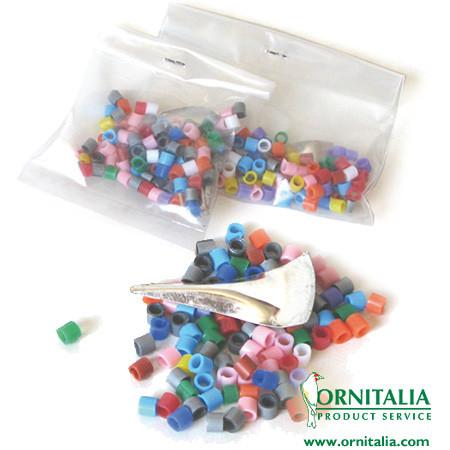 Ornitalia, anellini in plastica